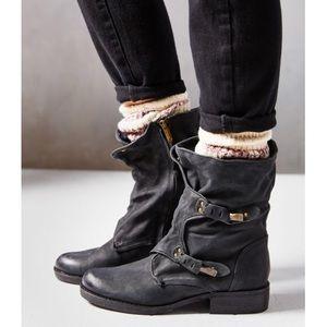 "SAM EDELMAN Black Leather Booties ""RIDGE"""